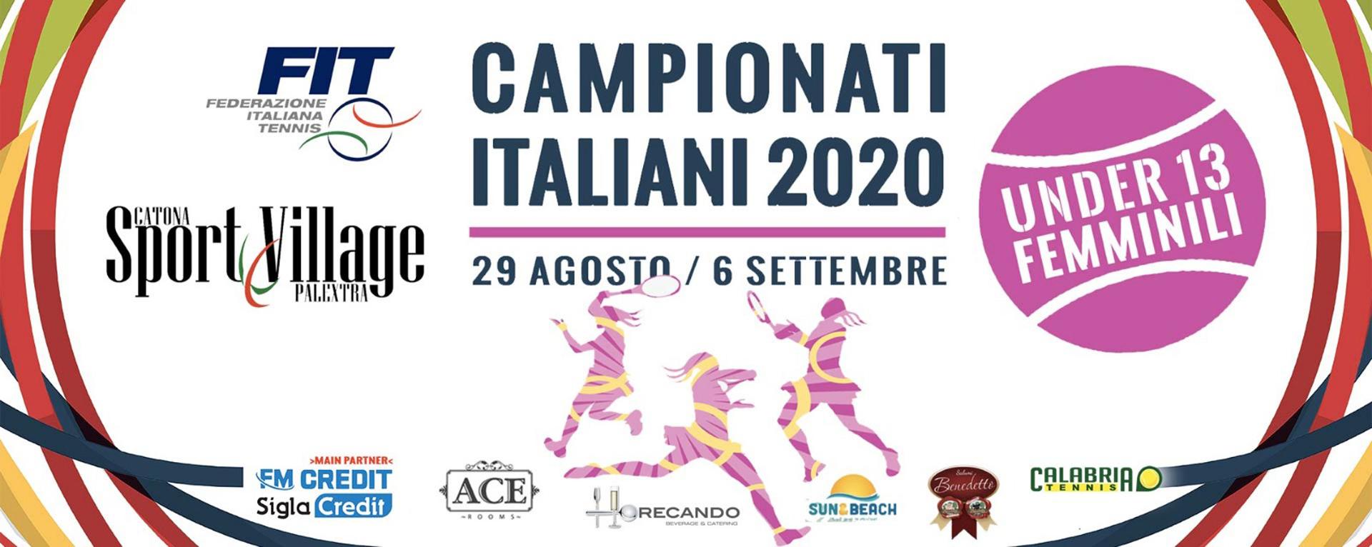 Campionati Italiani Tennis Under 13 Femminile 2020